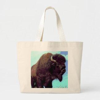 Bison Pop Art Large Tote Bag