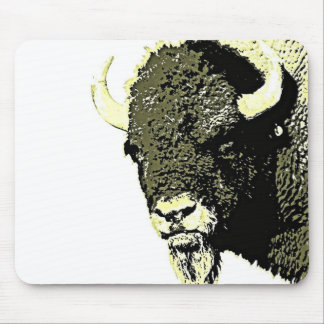 Bison Pop Art Mouse Pad