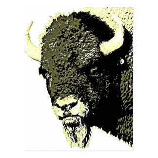 Bison Pop Art Postcard