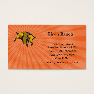 Bison Ranch Business card