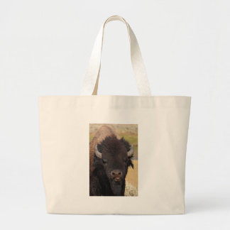 bison raspberry large tote bag