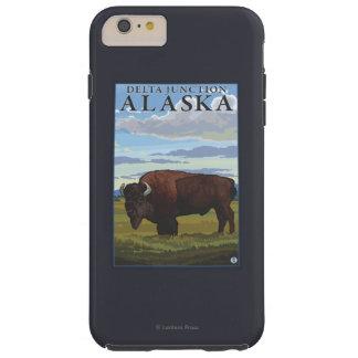 Bison Scene - Delta Junction, Alaska Tough iPhone 6 Plus Case