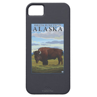 Bison Scene - Delta Junction, Alaska iPhone 5 Case