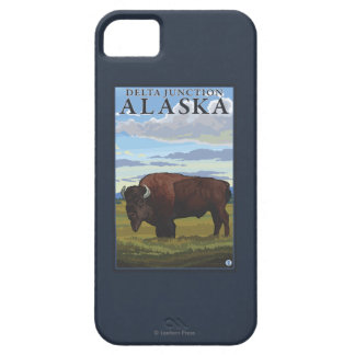 Bison Scene - Delta Junction, Alaska iPhone 5 Cover