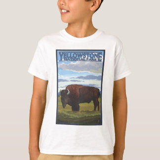 Bison Scene - Yellowstone National Park T-Shirt