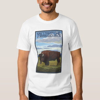 Bison Scene - Yellowstone National Park T Shirts