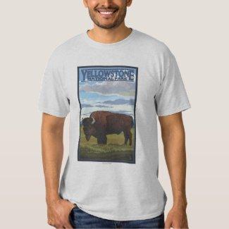 Bison Scene - Yellowstone National Park T Shirts