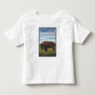 Bison Scene - Yellowstone National Park Toddler T-shirt