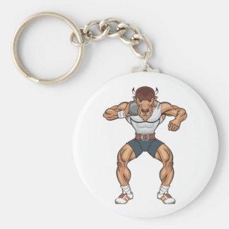 bison shot putter keychain