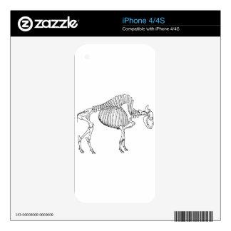 Bison Skeleton iPhone 4 Skin