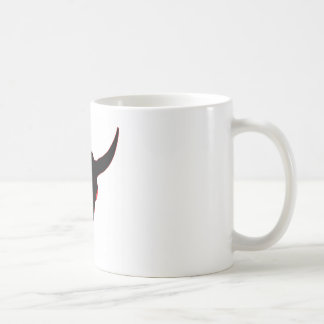 Bison Skull Black and Red Coffee Mugs