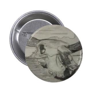 Bison Skull Button