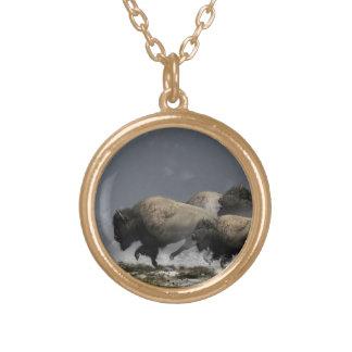 Bison Stampede Custom Necklace