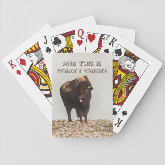 Bison Sticking His Tongue Out - Humor - Funny Playing Cards