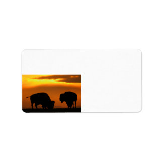 bison sunset label
