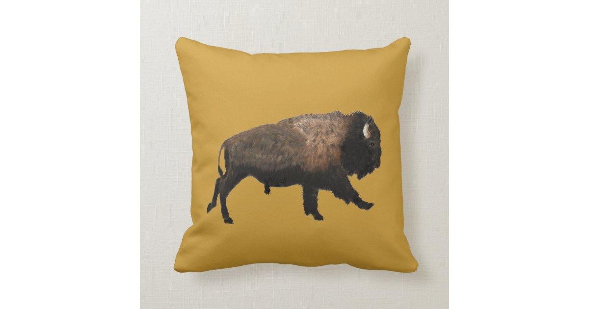 Bison Throw Pillow Zazzle Com