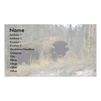 Bison, Upper Geyser Basin, Yellowstone National Pa Business Cards