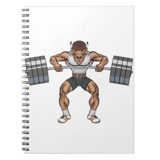 bison weight lifter notebook