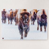 Bison Yellowstone Wyoming Jigsaw Puzzle