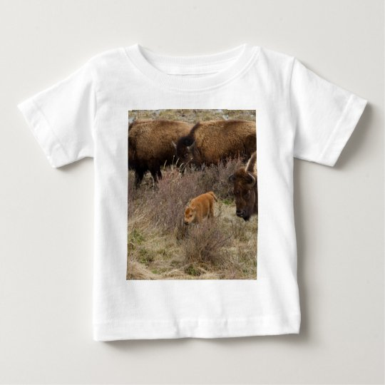 Bisons and Calf Baby T-Shirt