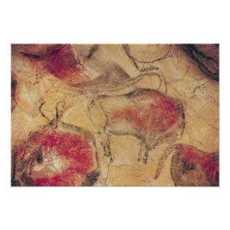 Bisons, from the Caves at Altamira, c.15000 BC Poster