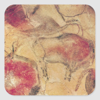 Bisons, from the Caves at Altamira, c.15000 BC Square Sticker