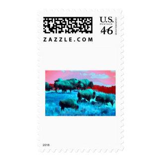 Bisons Postage