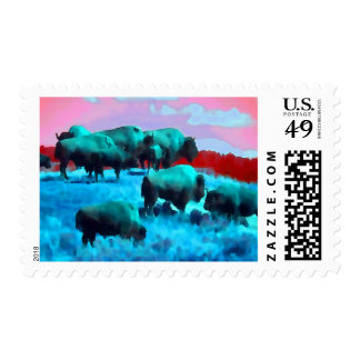 Bisons Stamp