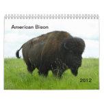 Bisonte americano calendario de pared