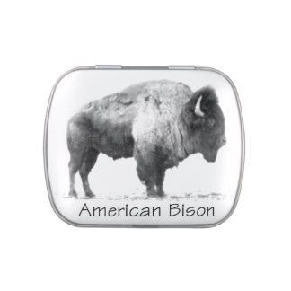 Bisonte americano frascos de dulces