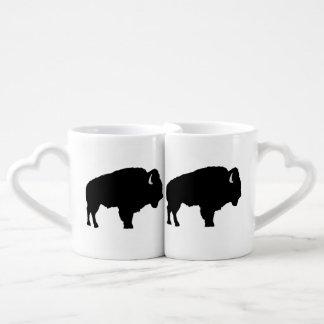 Bisonte americano set de tazas de café