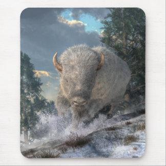 Bisonte blanco mousepad