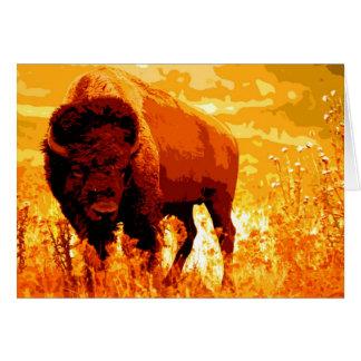 Bisonte/búfalo Felicitaciones