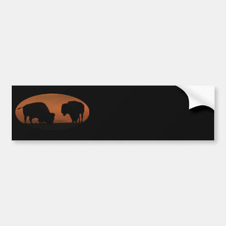 bisonte pegatina de parachoque
