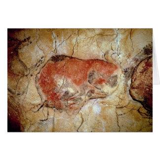 Bisonte de las cuevas de Altamira Tarjeta De Felicitación