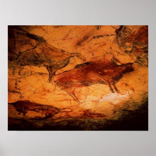 Bisonte de las cuevas en Altimira, c.15000 A.C. Póster