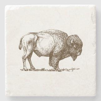 Bisonte del búfalo de Brown Posavasos De Piedra