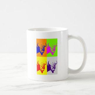 Bisonte del búfalo del arte pop de 4 colores