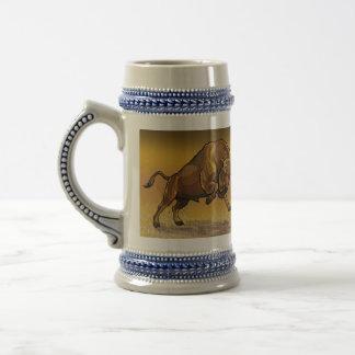 bisonte europeo jarra de cerveza