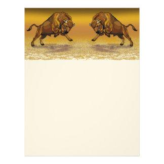 bisonte europeo membretes personalizados