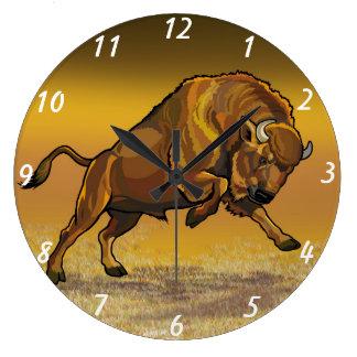 bisonte europeo reloj redondo grande