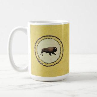 Bisonte galopante taza de café