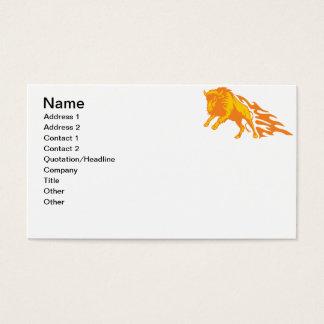 Bisonte llameante #3 tarjeta de negocios