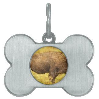 Bisonte Placa De Mascota