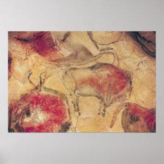 Bisontes, de las cuevas en Altamira, c.15000 A.C. Póster
