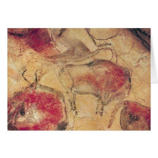 Bisontes, de las cuevas en Altamira, c.15000 A.C. Felicitacion