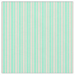 [ Thumbnail: Bisque and Aquamarine Colored Stripes Fabric ]