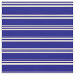 [ Thumbnail: Bisque and Blue Colored Striped/Lined Pattern Fabric ]