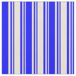 [ Thumbnail: Bisque and Blue Lines/Stripes Pattern Fabric ]