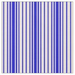 [ Thumbnail: Bisque and Blue Stripes Fabric ]